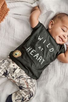 Wild At Heart T-Shirt And Joggers Set (0mths-2yrs)