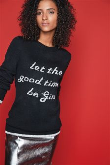 'Good Times Be Gin' Jumper