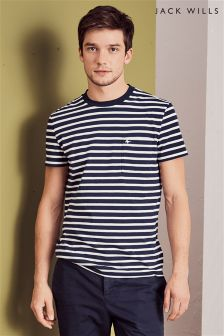 Jack Wills Navy Camberwell Stripe T-Shirt