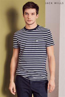 Jack Wills Navy Camberwell Stripe T-Shirt