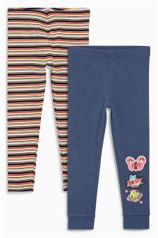 Badge Leggings Two Pack (3mths-6yrs)