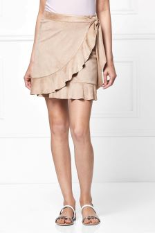 Suedette Frill Skirt