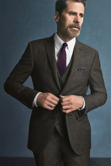Signature Textured Slim Fit Suit