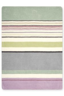 Teal And Lilac Stripe Rug