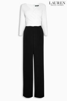 Lauren Black/White Two Tone Jumpsuit