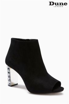 Dune Black Embellished Heel Ankle Boot