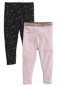 Glitter Leggings Two Pack (3mths-6yrs)