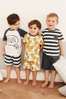 Lion Short Pyjamas Three Pack (9mths-8yrs)