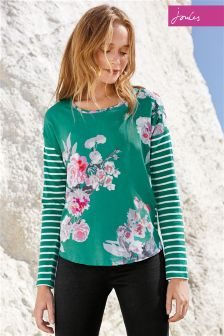 Joules Mixie Emerald Print Top