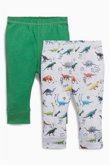 Dinosaur Joggers Two Pack (0mths-2yrs)