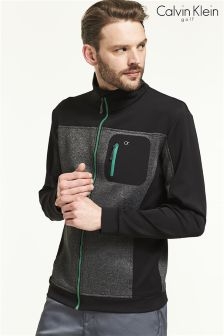 Calvin Klein Golf Charcoal Macrotech Zip Through Top