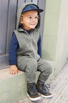 Zip Hooded All-In-One (3mths-6yrs)