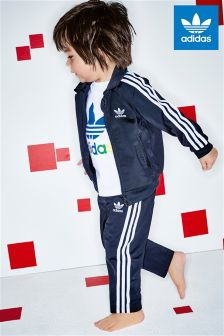 adidas Originals Infant 3 Stripe Black Tracksuit