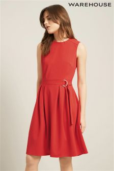 Warehouse Sleeveless D Ring Dress
