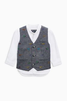 Embroidered Waistcoat Set (3mths-6yrs)
