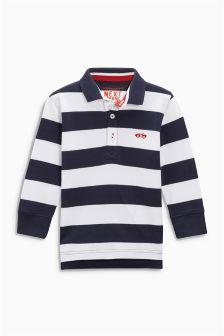Stripe Long Sleeve Poloshirt (3mths-6yrs)