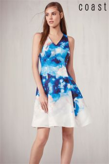 Coast Blue Floral Placement Dress