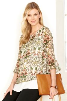 Maternity Printed Layer Blouse