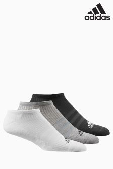 adidas Black/Grey/White No Show Sock Three Pack