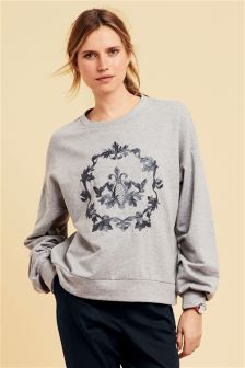 Crest Graphic Sweater