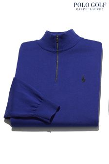 Ralph Lauren Golf Blue Half Zip Jumper