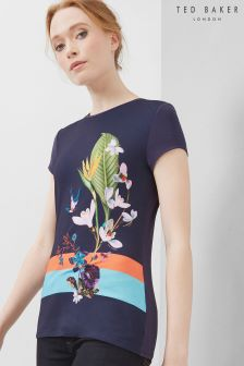 Ted Baker Navy Immyeni Floral Top
