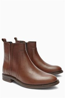 Casual Leather Chelsea Boots
