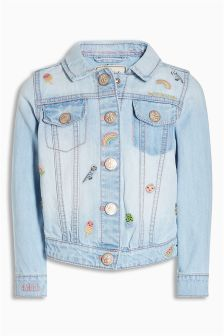 Character Embroidered Denim Jacket (3mths-6yrs)