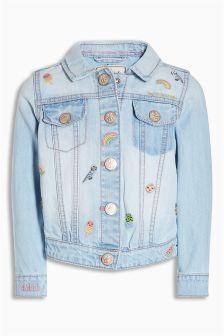 Light Blue Character Embroidered Denim Jacket (3mths-6yrs)