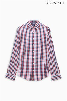 Gant Red/Navy Gingham Shirt