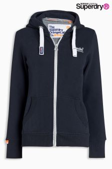 Superdry Eclipse Navy Orange Label Primary Zip Hoody