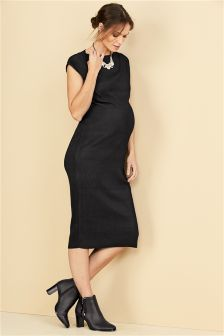 Maternity Bodycon Pleated Dress