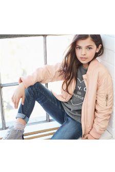 Pink Bomber Jacket (3-16yrs)