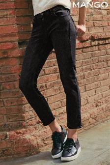 Mango Black Straight Leg Jean