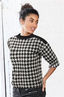Dogtooth Cosy Top
