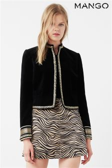 Mango Black/Gold Detail Jacket