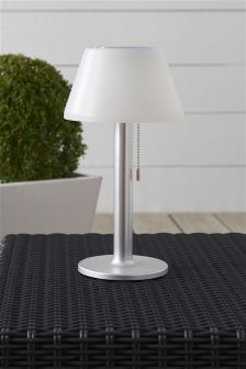 Solar Large White Table Lamp