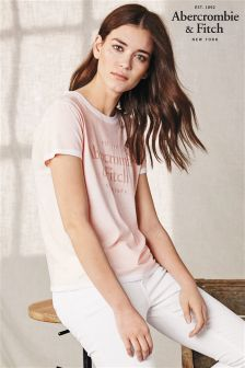 Abercrombie & Fitch Pearl Blush Burnout Tee