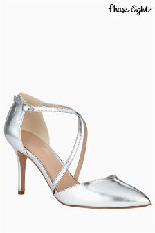Phase Eight Izzy Metallic Leather Pointed Court