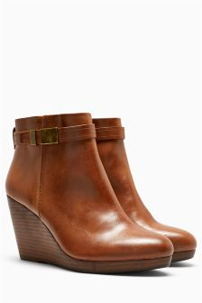 Strap Wedge Boots