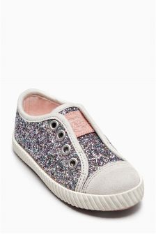 Laceless Glitter Pumps (Younger Girls)