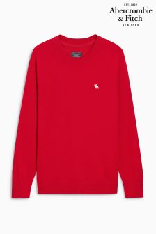 Abercrombie & Fitch Red Crew Neck Knit