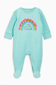 Rainbow Sleepsuit (0mths-2yrs)