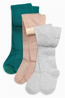 Textured Tights Three Pack (0mths-6yrs)