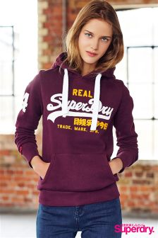 Superdry Burgundy Vintage Logo Duo Entry Hoody