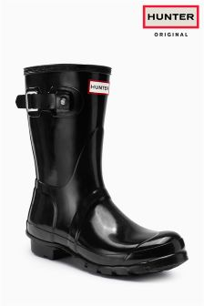 Hunter Black Gloss Mini Wellington Boot