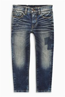Authentic Patch Regular Jeans (3-16yrs)