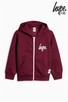 Hype Burgundy Seal Of Approval Zip Through Hoody