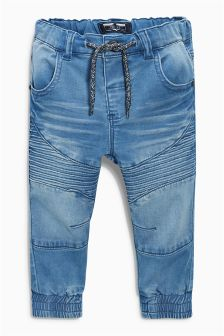 Jersey Denim Pull-On Biker Jeans (3mths-6yrs)