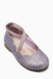 Scallop Ballet Shoes (Younger Girls)
